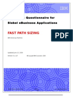 Siebel Sizing Questionnaire - FAST PATH SIZING v3.1