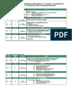 EMTC 7 Schedule