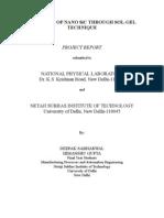Synthesis of Nano Sic Through Sol