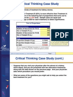 Critical Thinking Case Study - Kidney Stone Treatment