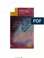 ACSMs Guidelines for Ex Testing Prescription