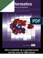 tics Genes, Proteins and Computers
