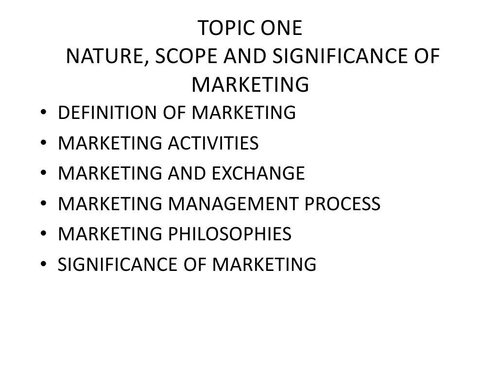 Marketing Management Bangalore University Swot Analysis Marketing