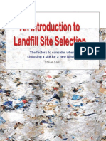 Intro to Landfill Site Selection