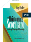 Maintenance Score Card