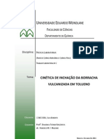 CINÉTICA DE INCHAÇÃO DA BORRACHA VULCANIZADA EM TOLUENO - CONDOEIRA