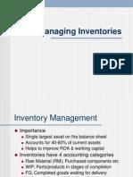 Managing Inventories