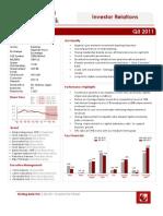 Sterling Bank Q3 2011 Investor Factsheet