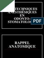3- Les techniques anesthésiques 1+2