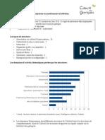 Document de synthèse au questionnaire d'adhésion - Novembre 2011
