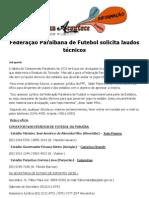 Federação Paraibana de Futebol solicita laudos técnicos