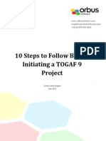 10 Steps to Follow Before Initiating a Togaf 9 Project