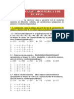 Psicotecnico - Test de Capacidad Numerica y de Calculo