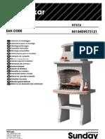 Assembly Manual of Masonry Stone Charcoal Grill BBQ Dakar