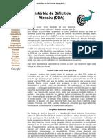 Distúrbio de Déficit de Atenção (DDA)