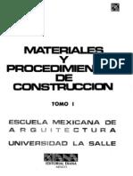 Materiales y Procedimientos de Construccion