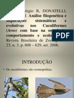 Analise filogenética e implicações sistemáticas e evolutivas nos
