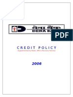 Credit Policy 2006