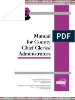 County Chief Clerks Manual