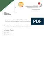 Geburtstagsfeier LH Kosten - Landtagsanfrage & Antwort 1111