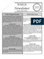 WMGS Newsletter Winter 2011-12