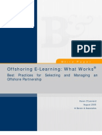 Offshoring E Learning  what works