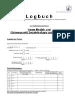 Logbuch FA Innere Medizin Und SP Endokrinologie Und Diabetologie