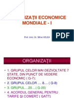 ORGANIZAŢII ECONOMICE MONDIALE - I