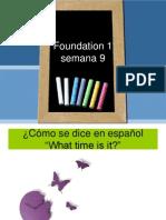 Foundation 1 Semana 9 VLE