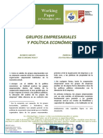 GRUPOS EMPRESARIALES Y POLÍTICA ECONÓMICA - BUSINESS GROUPS AND ECONOMIC POLICY (Spanish) - ENPRESA-TALDEAK ETA POLITIKA EKONOMIKOA (Espainieraz)