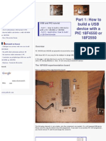 How to Build a USB Device With a PIC 18F4550 or 18F2550