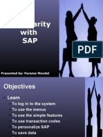 SAP Familiarity