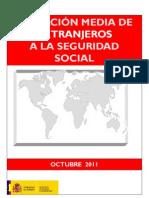 AFILIADOS EXTRANJEROS SEGURIDAD SOCIAL - OCTUBRE 2011