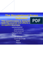 The Occupational Stress Indicator