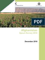 Afghanistan Opium Survey 2010 Web