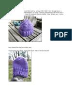Knitted Flat Hat Original)