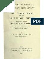 35821488 the Moabite Stone