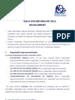 Regulament Gala 2011
