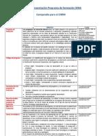 Definiciones de  de componentes del programa de formación