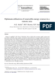 Optimum Utilization of Renewable Energy Sources in A