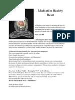 Meditation Healthy Heart