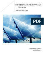 Design and Engineering of Solar Photo Voltaic Cells
