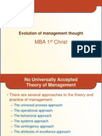 Evolution of Mgmt Thought