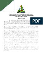 3rd IBSA Summit Declaration - New Delhi 2008