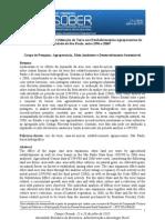 Expansão Canavieira e Utilização da Terra nos Estabelecimentos Agropecuários do Estado de São Paulo, entre 1996 e 2006