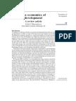 The economics of development. P. Bhattacharya