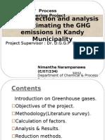 Estimation of GHG Emission in Kandy 1st