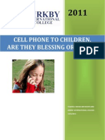 Cell Phone To Children Pro And Cons