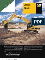 Catalago de Excavadora 322CL CAT_español