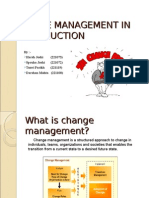 Change Management in Construction